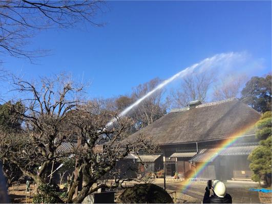 文化財防火デーに伴う消防避難訓練