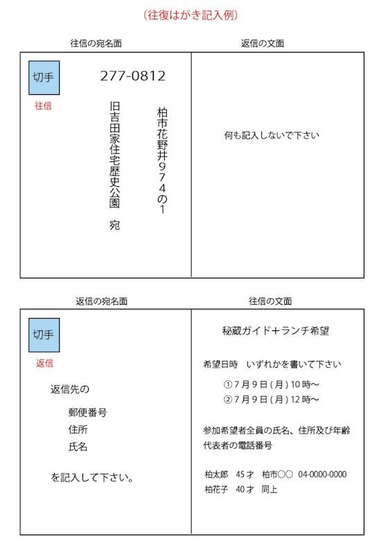 秘蔵ガイド+ランチ7月申込